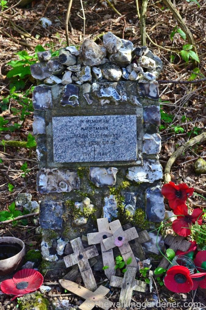 German pilot memorial, South Downs Way